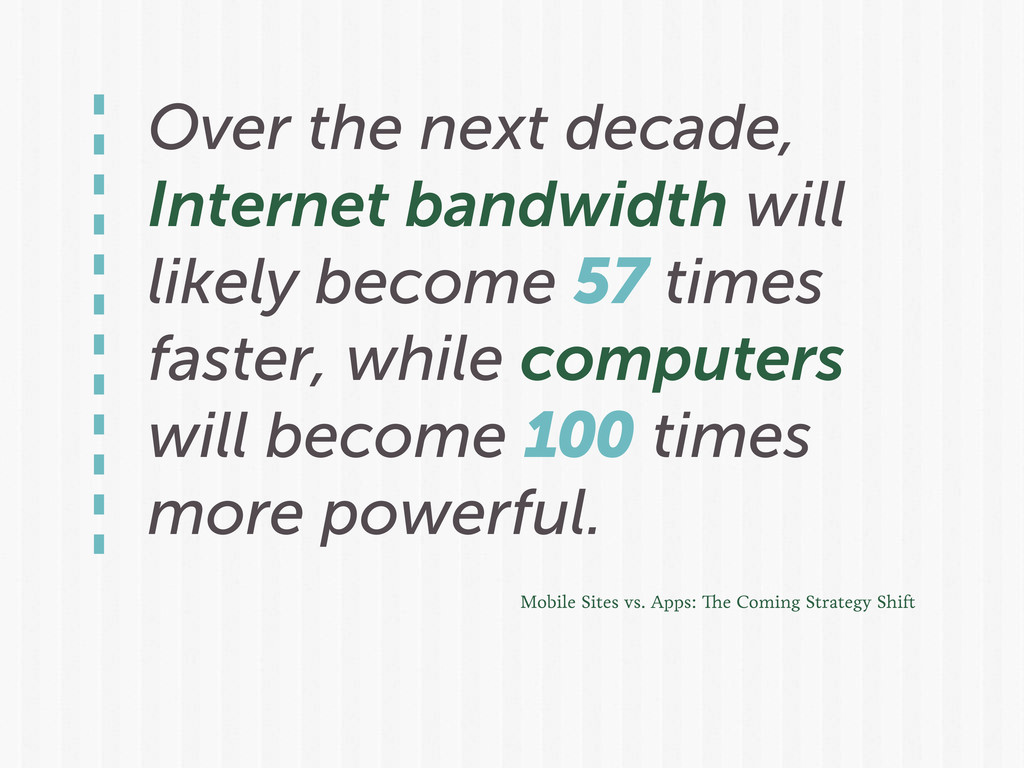Over the next decade, Internet bandwidth will l...