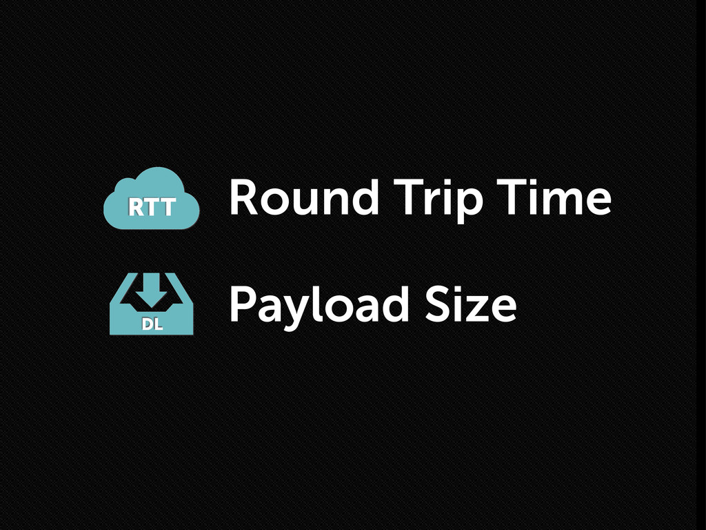Round Trip Time RTT DL Payload Size
