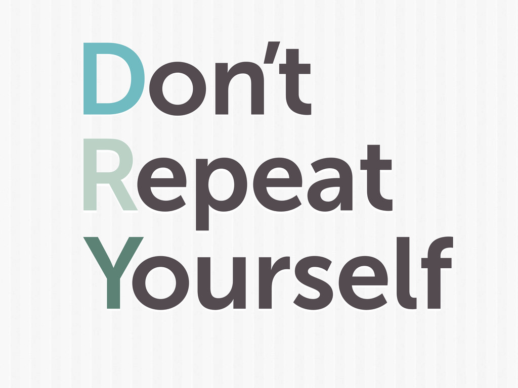 Yourself Don't Repeat