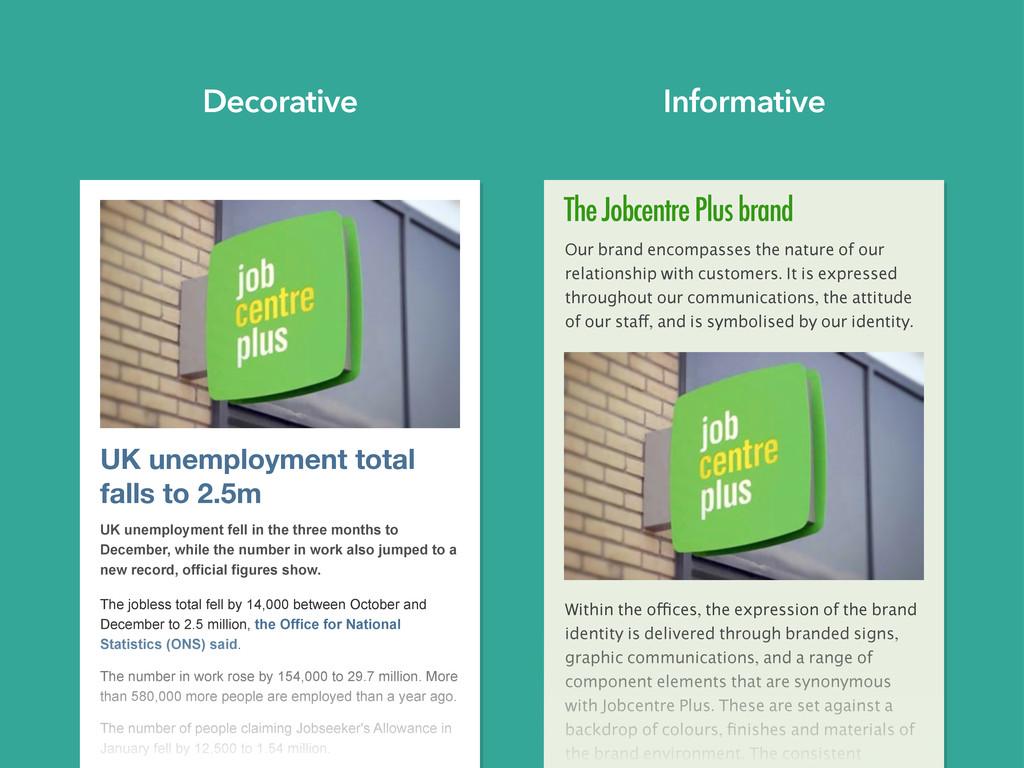 The Jobcentre Plus brand Our brand encompasses ...
