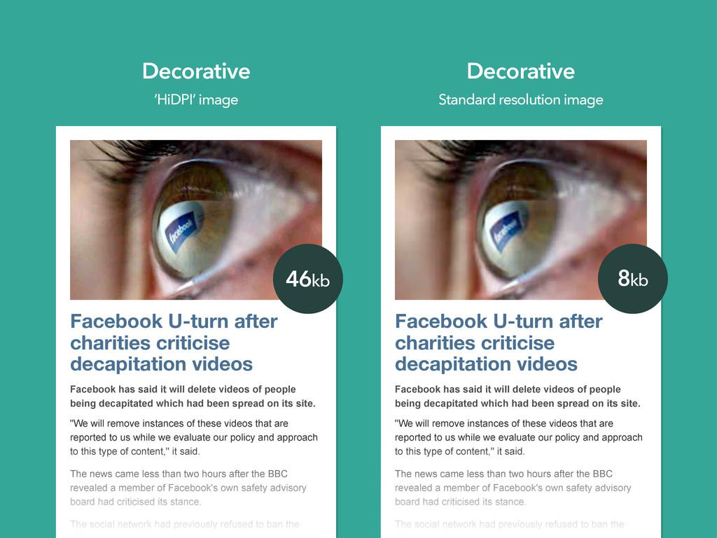 Facebook U-turn after charities criticise decap...