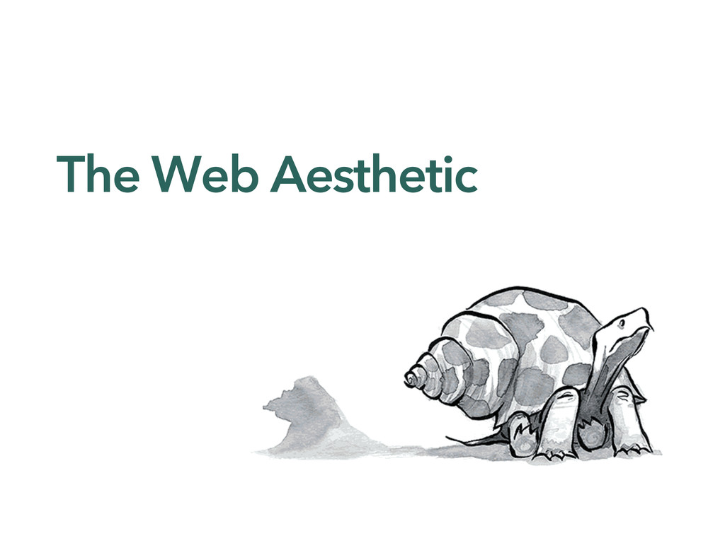 The Web Aesthetic