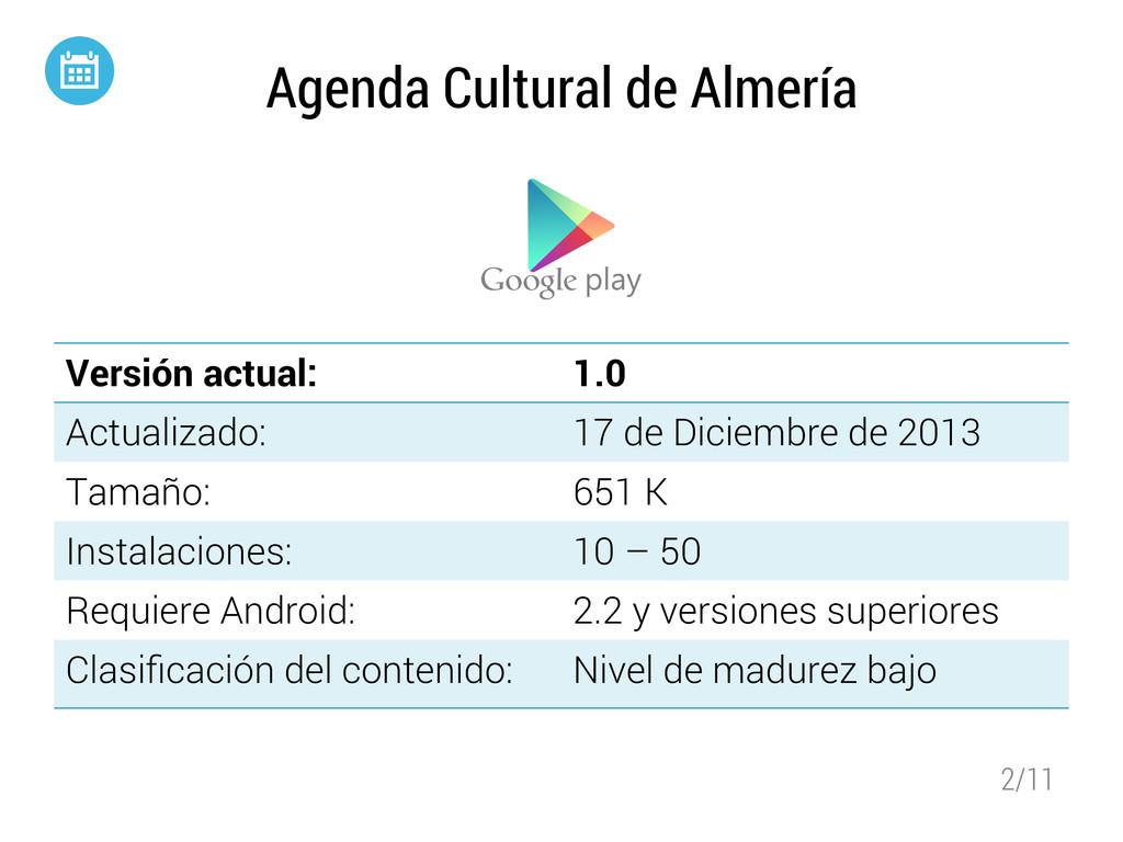2/11 Agenda Cultural de Almería Versión actual:...