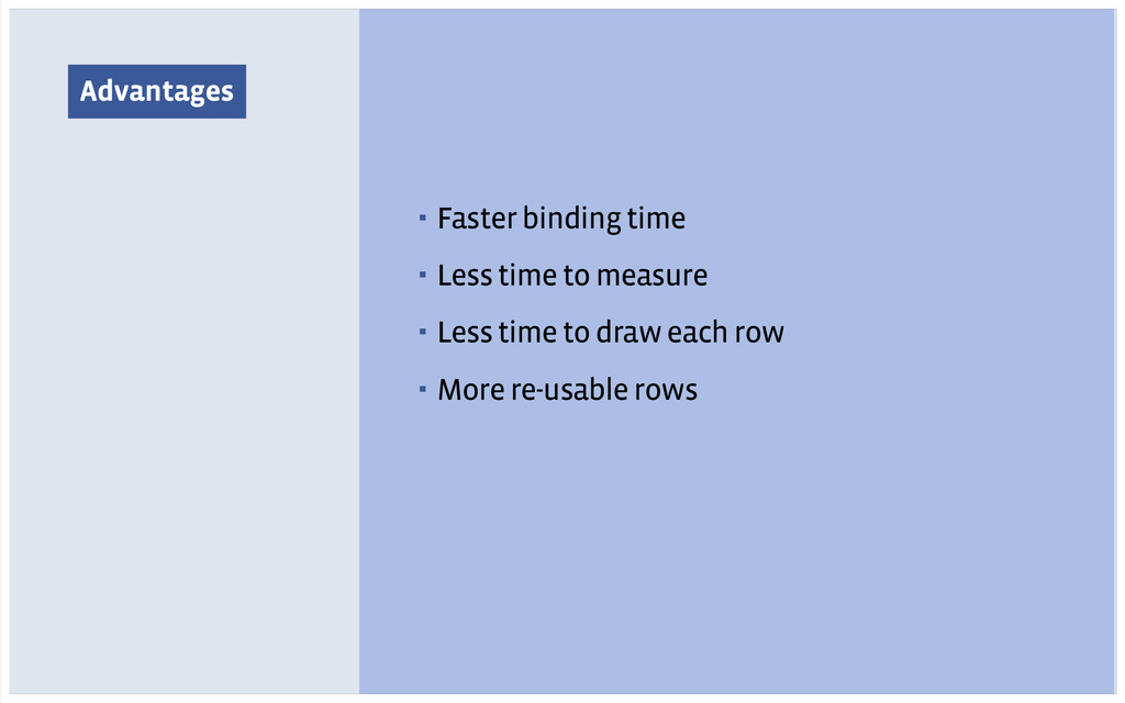 Advantages ▪ Faster binding time ▪ Less time to...