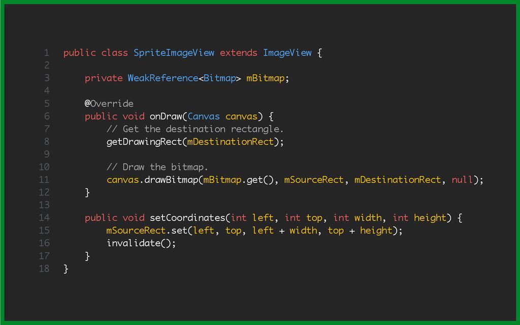 public class SpriteImageView extends ImageView ...