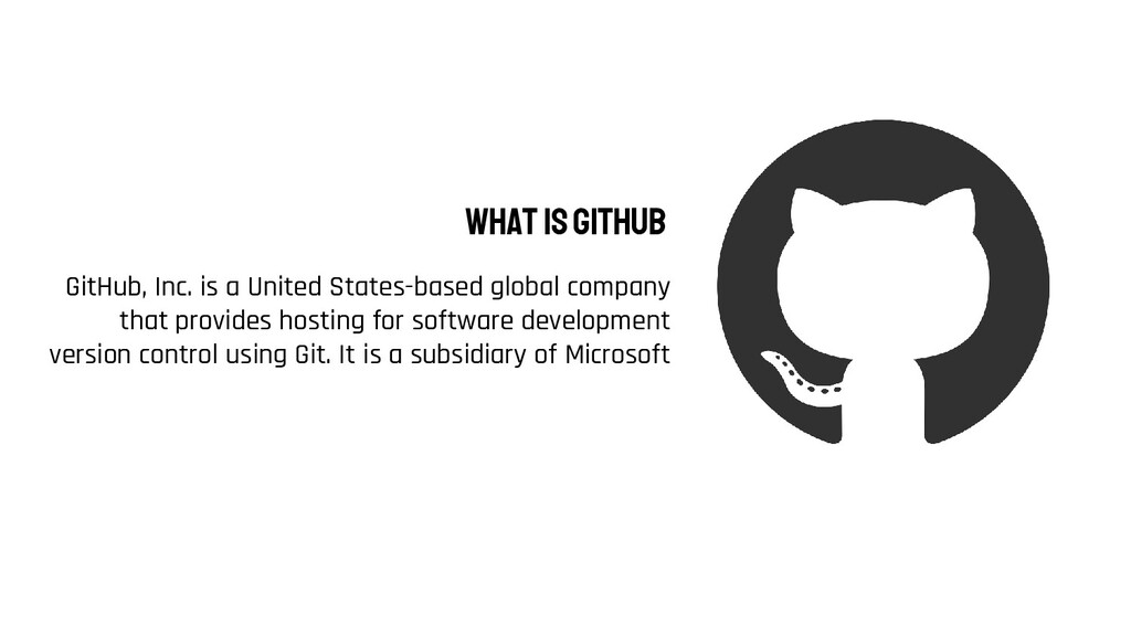 GitHub, Inc. is a United States-based global co...