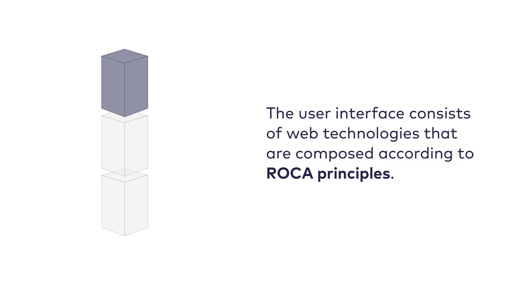 The user interface consists of web technologies...