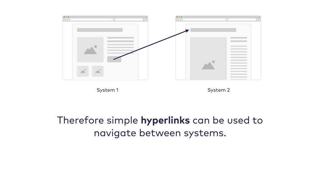 Therefore simple hyperlinks can be used to navi...