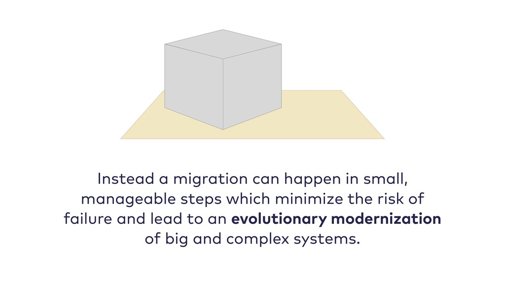 Instead a migration can happen in small, manage...