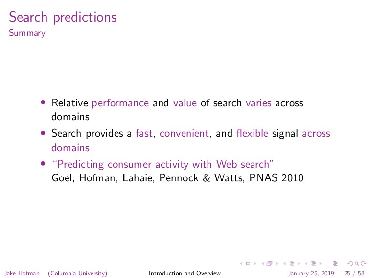 Search predictions Summary • Relative performan...