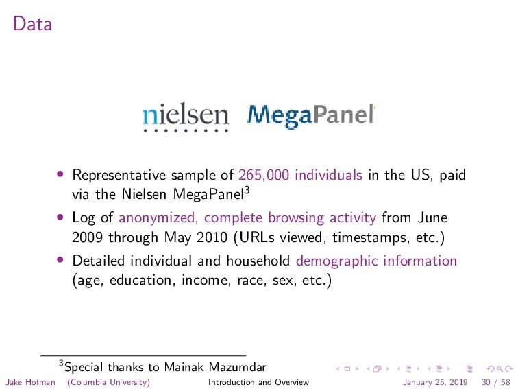 Data • Representative sample of 265,000 individ...