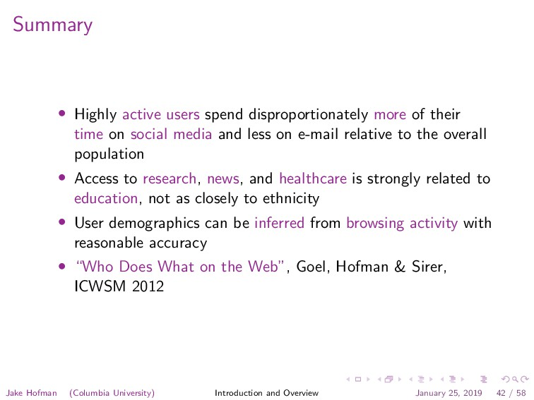 Summary • Highly active users spend disproporti...