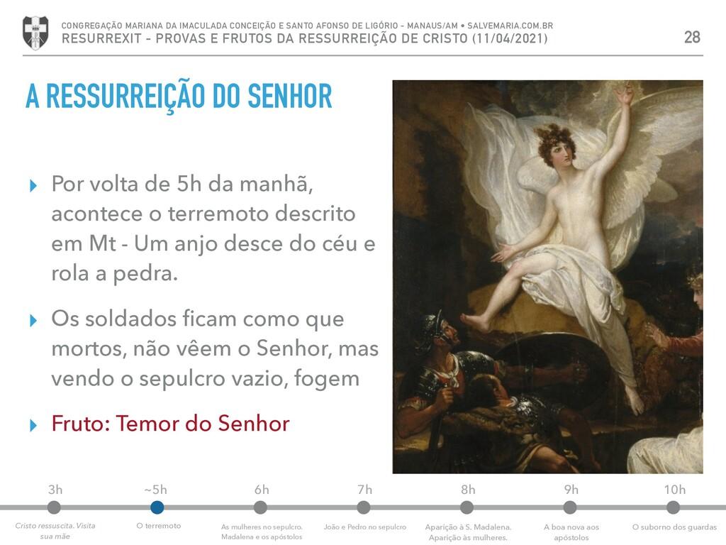 A RESSURREIÇÃO DO SENHOR ▸ Por volta de 5h da m...