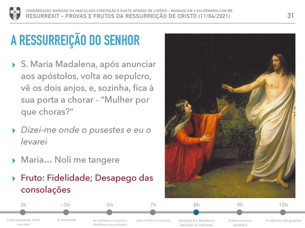A RESSURREIÇÃO DO SENHOR ▸ S. Maria Madalena, a...