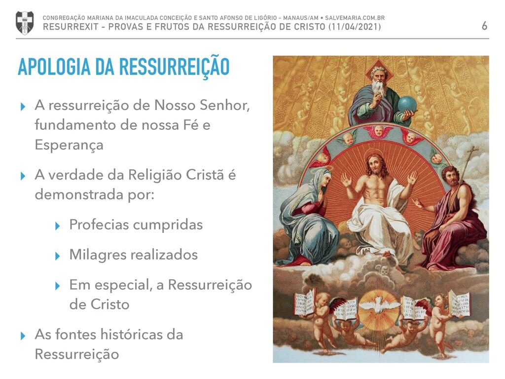 APOLOGIA DA RESSURREIÇÃO ▸ A ressurreição de No...