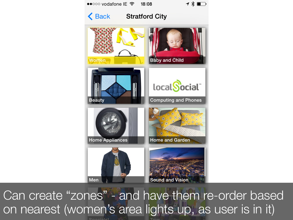 """Can create """"zones"""" - and have them re-order bas..."""