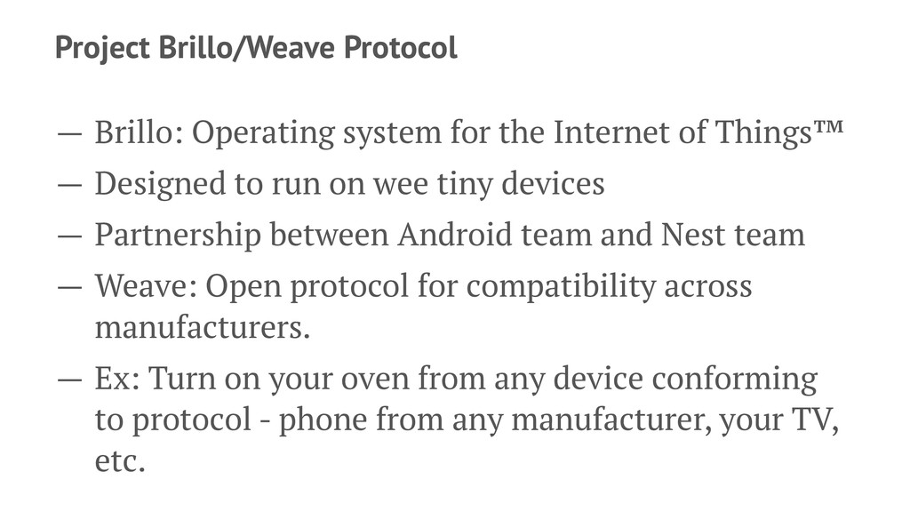Project Brillo/Weave Protocol — Brillo: Operati...