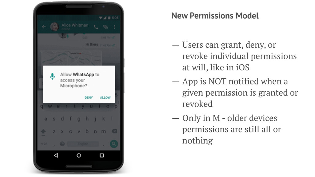 New Permissions Model — Users can grant, deny, ...