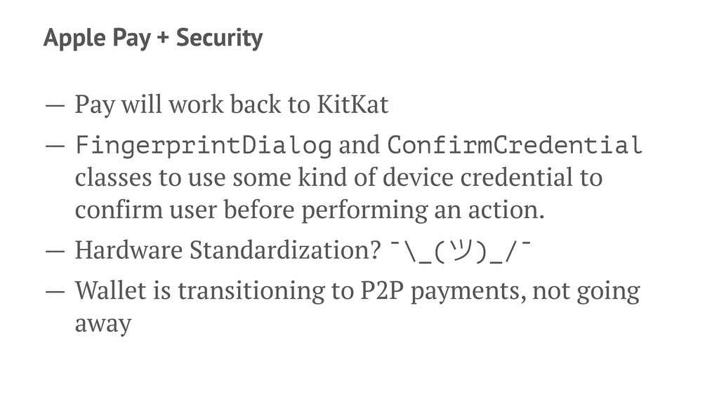 Apple Pay + Security — Pay will work back to Ki...