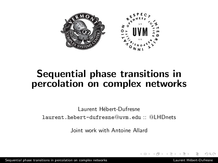 Sequential phase transitions in percolation on ...