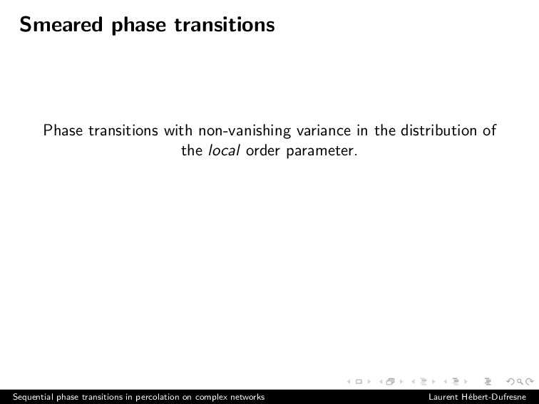 Smeared phase transitions Phase transitions wit...