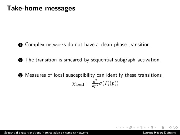 Take-home messages 1 Complex networks do not ha...