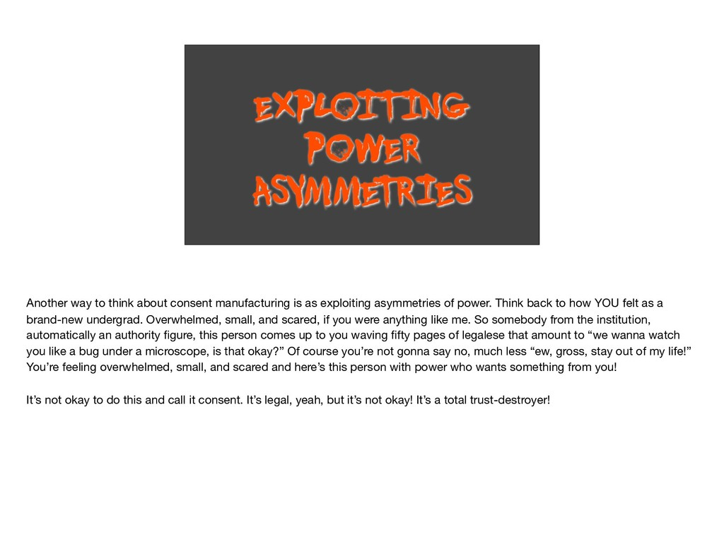 EXPLOITING POWER ASYMME T RIES Another way to t...