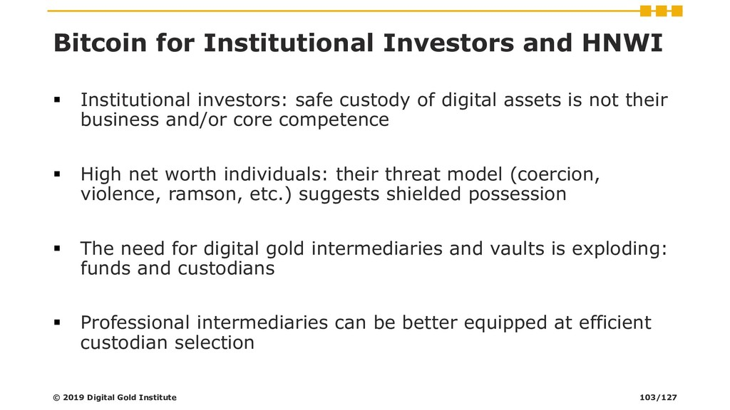 Bitcoin for Institutional Investors and HNWI ▪ ...