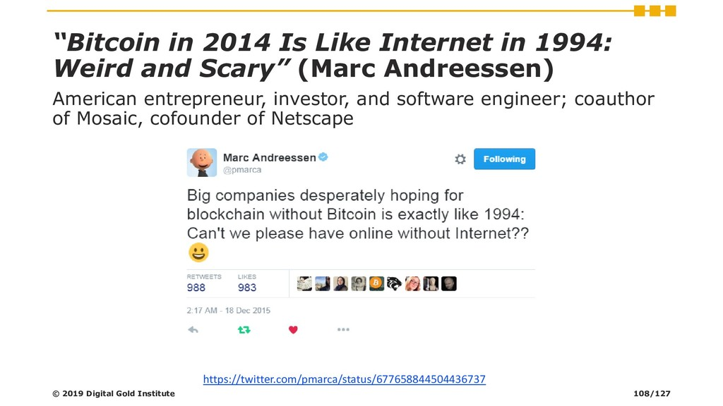 """Bitcoin in 2014 Is Like Internet in 1994: Weir..."