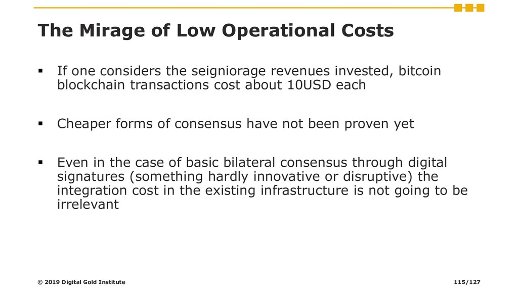 The Mirage of Low Operational Costs ▪ If one co...