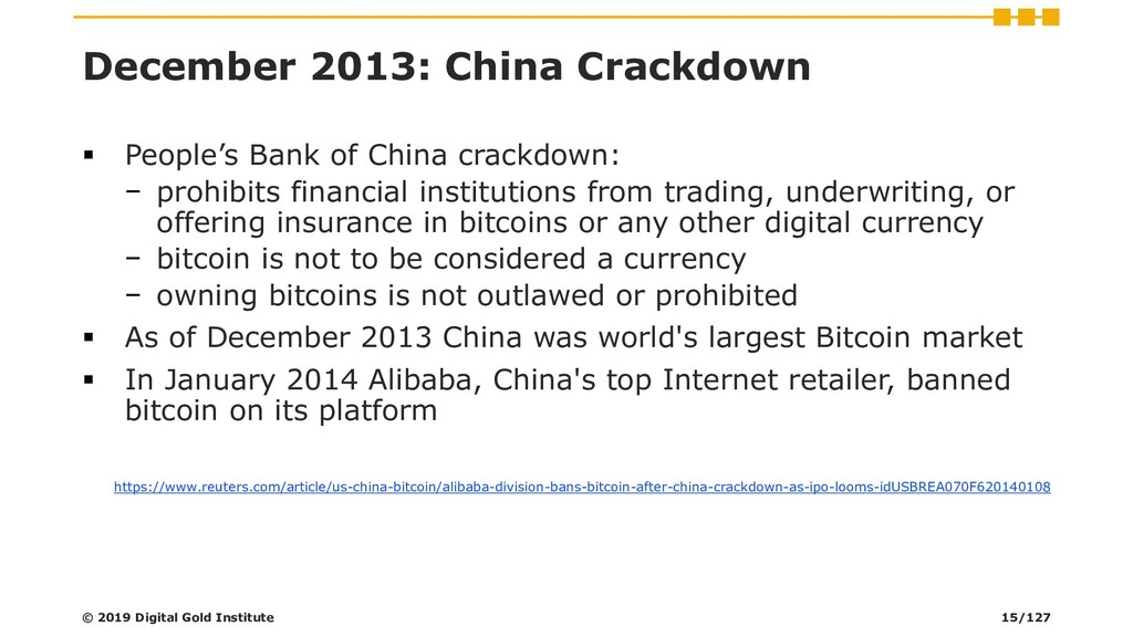 December 2013: China Crackdown ▪ People's Bank ...
