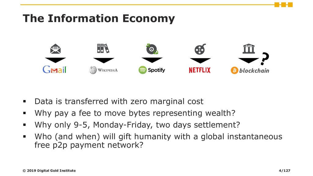 The Information Economy ▪ Data is transferred w...