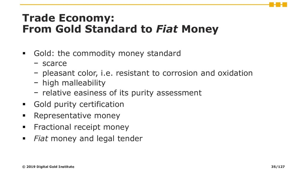 Trade Economy: From Gold Standard to Fiat Money...