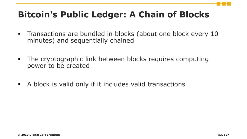 Bitcoin's Public Ledger: A Chain of Blocks ▪ Tr...