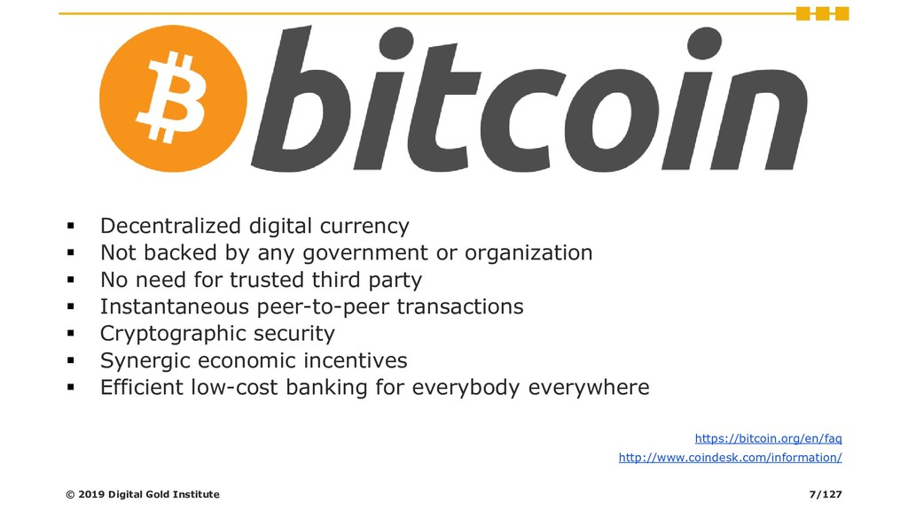 ▪ Decentralized digital currency ▪ Not backed b...