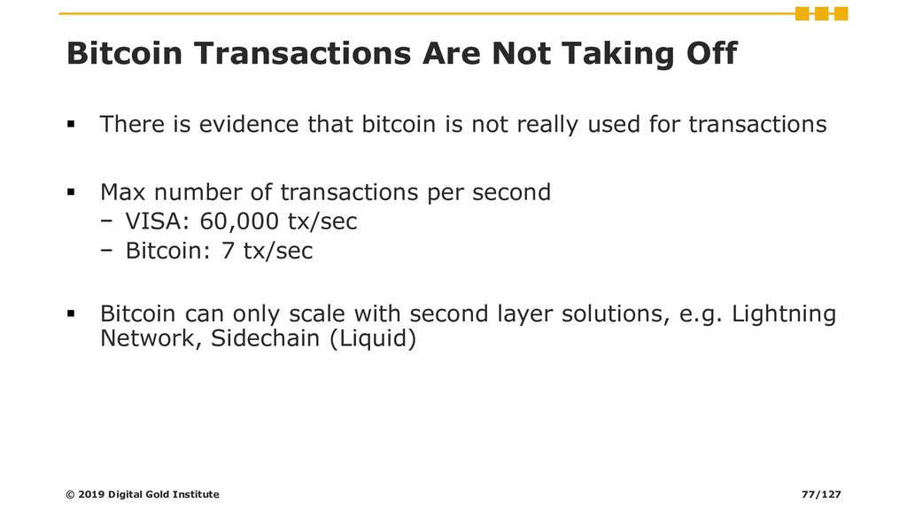 Bitcoin Transactions Are Not Taking Off ▪ There...