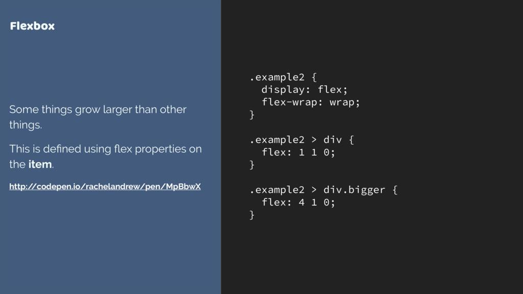 .example2 { display: flex; flex-wrap: wrap; } ....