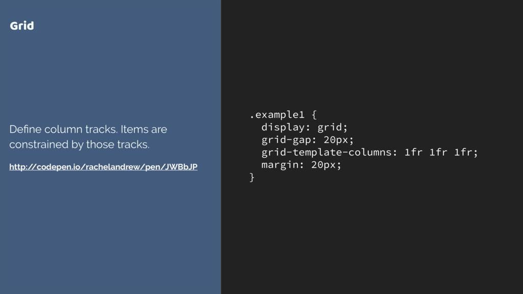 .example1 { display: grid; grid-gap: 20px; grid...
