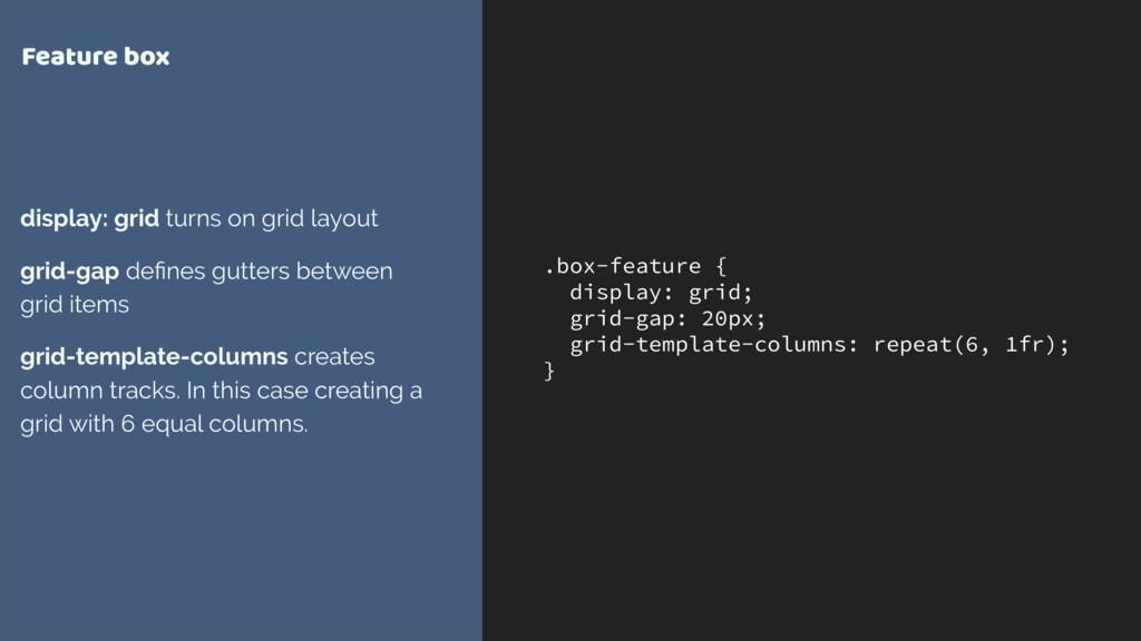 .box-feature { display: grid; grid-gap: 20px; g...