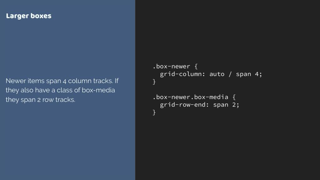 .box-newer { grid-column: auto / span 4; } .box...