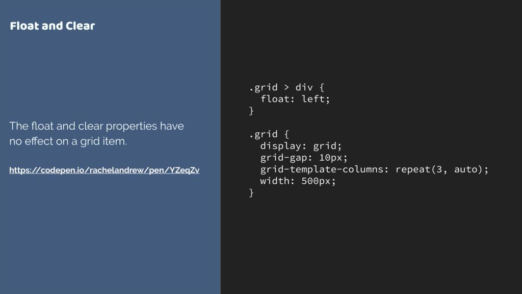 .grid > div { float: left; } .grid { display: g...