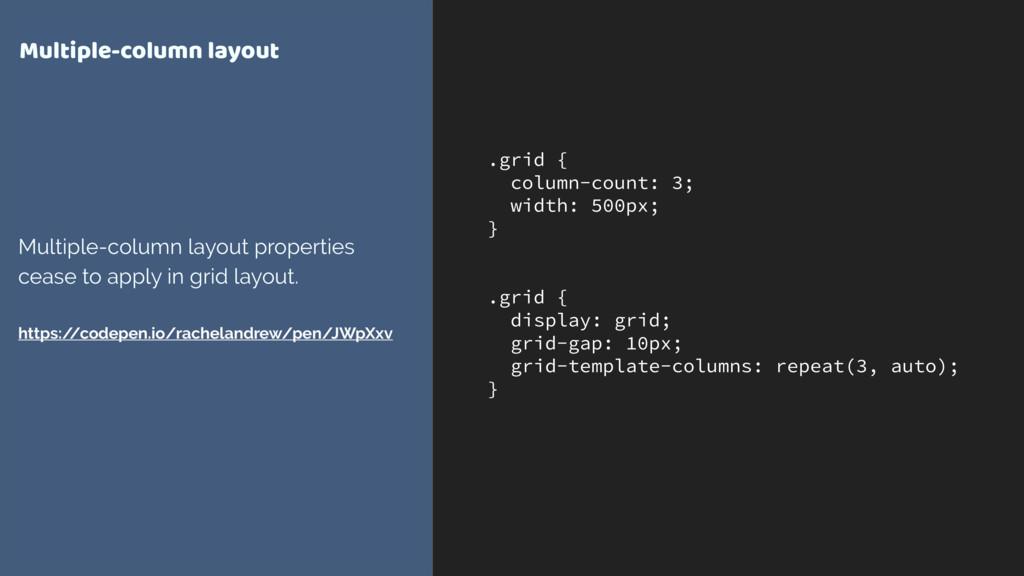 .grid { column-count: 3; width: 500px; } .grid ...