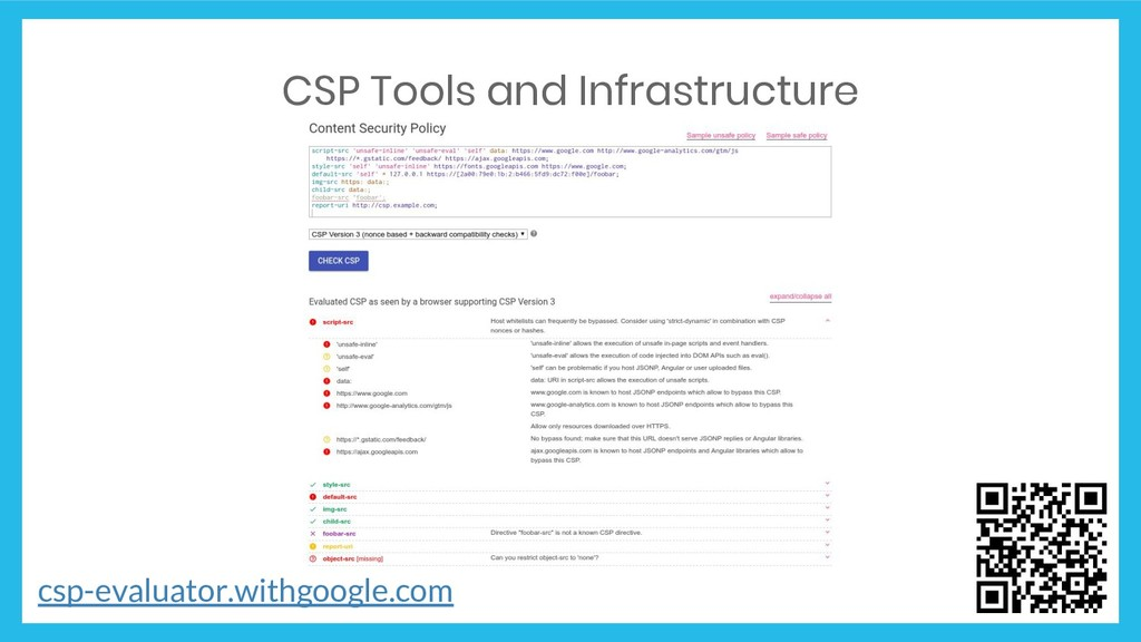 CSP Tools and Infrastructure csp-evaluator.with...