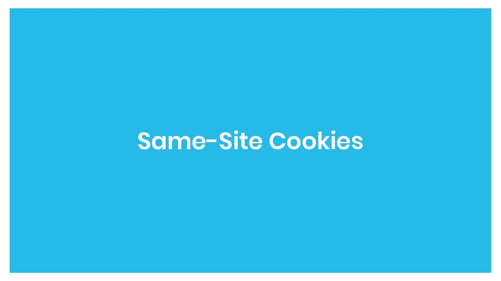 Same-Site Cookies