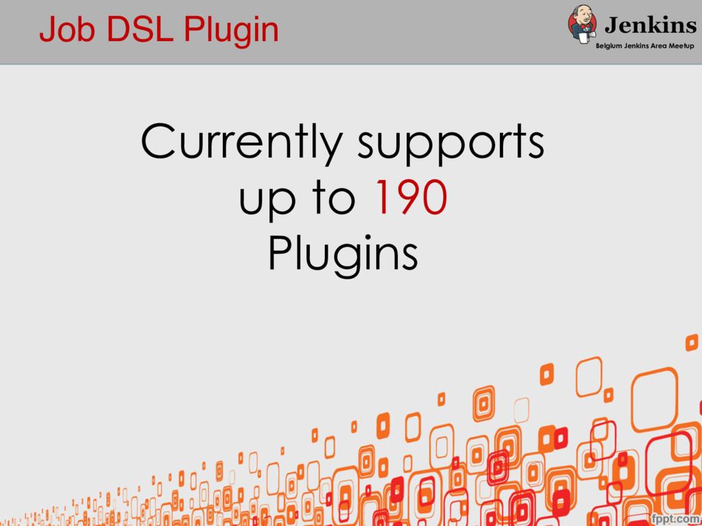 Job DSL Plugin Belgium Jenkins Area Meetup Curr...