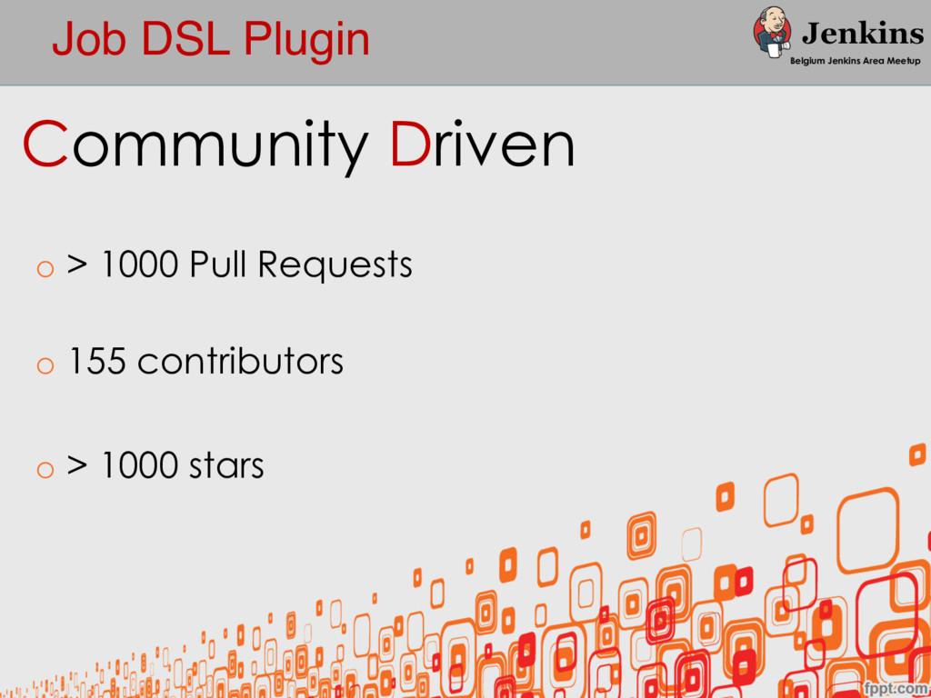 Job DSL Plugin Belgium Jenkins Area Meetup Comm...