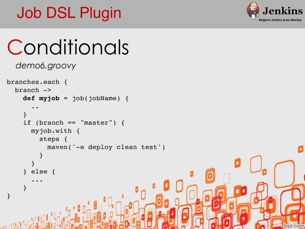 Job DSL Plugin Belgium Jenkins Area Meetup Cond...