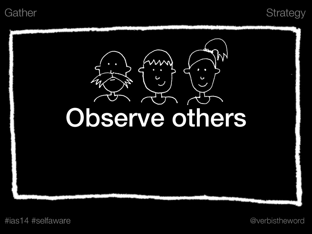 Strategy #ias14 #selfaware @verbistheword Obser...