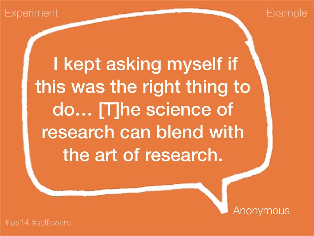 Example #ias14 #selfaware I kept asking myself ...