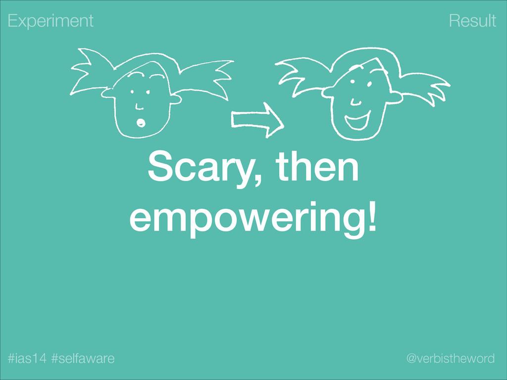 Result #ias14 #selfaware @verbistheword Scary, ...
